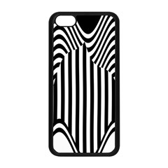 Stripe Abstract Stripped Geometric Background Apple Iphone 5c Seamless Case (black) by Simbadda
