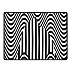 Stripe Abstract Stripped Geometric Background Double Sided Fleece Blanket (small)  by Simbadda