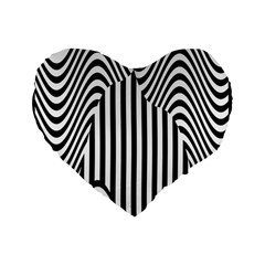 Stripe Abstract Stripped Geometric Background Standard 16  Premium Flano Heart Shape Cushions by Simbadda