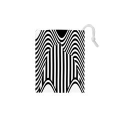 Stripe Abstract Stripped Geometric Background Drawstring Pouches (xs)  by Simbadda