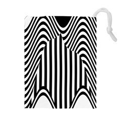 Stripe Abstract Stripped Geometric Background Drawstring Pouches (extra Large) by Simbadda