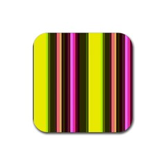 Stripes Abstract Background Pattern Rubber Square Coaster (4 Pack)  by Simbadda