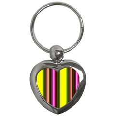 Stripes Abstract Background Pattern Key Chains (heart)  by Simbadda