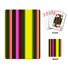 Stripes Abstract Background Pattern Playing Card by Simbadda