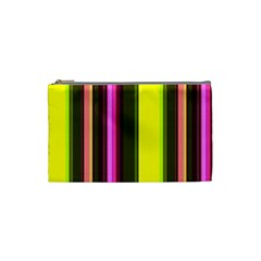 Stripes Abstract Background Pattern Cosmetic Bag (small)  by Simbadda
