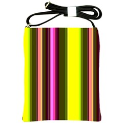 Stripes Abstract Background Pattern Shoulder Sling Bags by Simbadda