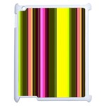 Stripes Abstract Background Pattern Apple iPad 2 Case (White) Front