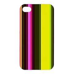 Stripes Abstract Background Pattern Apple Iphone 4/4s Premium Hardshell Case by Simbadda