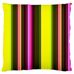 Stripes Abstract Background Pattern Large Cushion Case (two Sides) by Simbadda