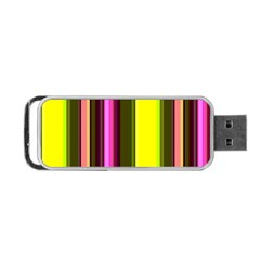 Stripes Abstract Background Pattern Portable Usb Flash (two Sides) by Simbadda
