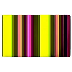 Stripes Abstract Background Pattern Apple Ipad 3/4 Flip Case by Simbadda