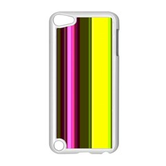 Stripes Abstract Background Pattern Apple Ipod Touch 5 Case (white) by Simbadda