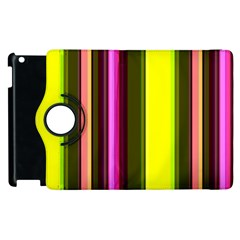 Stripes Abstract Background Pattern Apple Ipad 3/4 Flip 360 Case by Simbadda