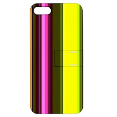 Stripes Abstract Background Pattern Apple Iphone 5 Hardshell Case With Stand by Simbadda