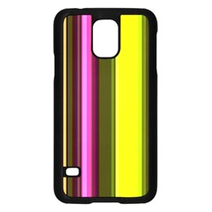 Stripes Abstract Background Pattern Samsung Galaxy S5 Case (black) by Simbadda