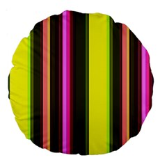 Stripes Abstract Background Pattern Large 18  Premium Flano Round Cushions by Simbadda