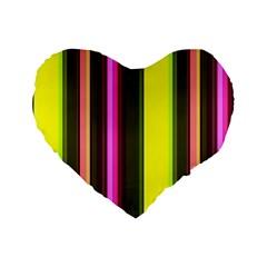 Stripes Abstract Background Pattern Standard 16  Premium Flano Heart Shape Cushions by Simbadda