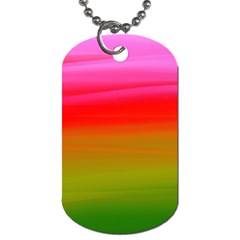 Watercolour Abstract Paint Digitally Painted Background Texture Dog Tag (one Side) by Simbadda