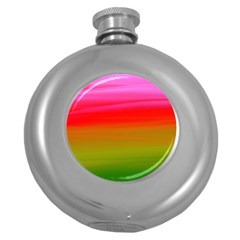 Watercolour Abstract Paint Digitally Painted Background Texture Round Hip Flask (5 Oz) by Simbadda