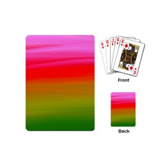 Watercolour Abstract Paint Digitally Painted Background Texture Playing Cards (mini)  by Simbadda