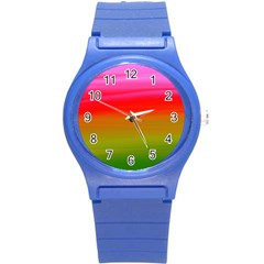 Watercolour Abstract Paint Digitally Painted Background Texture Round Plastic Sport Watch (s) by Simbadda