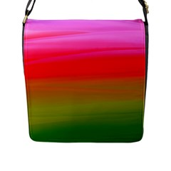 Watercolour Abstract Paint Digitally Painted Background Texture Flap Messenger Bag (l)  by Simbadda