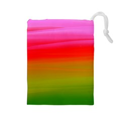 Watercolour Abstract Paint Digitally Painted Background Texture Drawstring Pouches (large)  by Simbadda