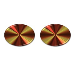 Copper Beams Abstract Background Pattern Cufflinks (oval) by Simbadda