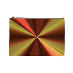 Copper Beams Abstract Background Pattern Cosmetic Bag (large)  by Simbadda