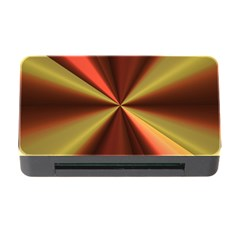 Copper Beams Abstract Background Pattern Memory Card Reader With Cf by Simbadda