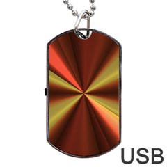 Copper Beams Abstract Background Pattern Dog Tag Usb Flash (one Side) by Simbadda
