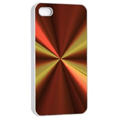 Copper Beams Abstract Background Pattern Apple Iphone 4/4s Seamless Case (white) by Simbadda