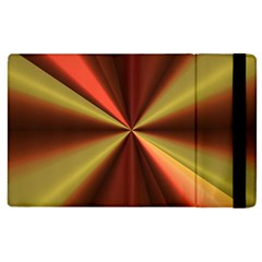 Copper Beams Abstract Background Pattern Apple Ipad 2 Flip Case by Simbadda