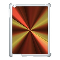 Copper Beams Abstract Background Pattern Apple Ipad 3/4 Case (white) by Simbadda