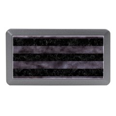 Stripes2 Black Marble & Black Watercolor Memory Card Reader (mini)