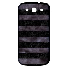 Stripes2 Black Marble & Black Watercolor Samsung Galaxy S3 S Iii Classic Hardshell Back Case by trendistuff