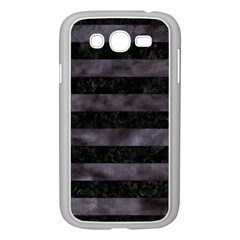 Stripes2 Black Marble & Black Watercolor Samsung Galaxy Grand Duos I9082 Case (white) by trendistuff