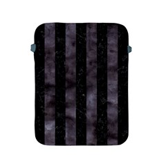 Stripes1 Black Marble & Black Watercolor Apple Ipad 2/3/4 Protective Soft Case by trendistuff