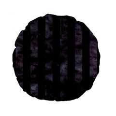Stripes1 Black Marble & Black Watercolor Standard 15  Premium Flano Round Cushion  by trendistuff