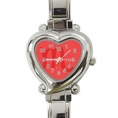 Zodiac Scorpio Heart Italian Charm Watch by Mariart
