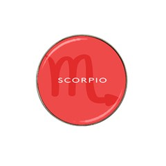 Zodiac Scorpio Hat Clip Ball Marker (4 Pack) by Mariart