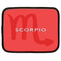 Zodiac Scorpio Netbook Case (xl)  by Mariart