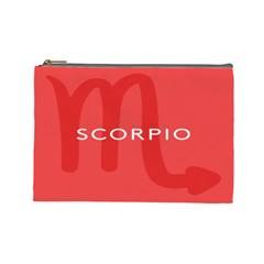 Zodiac Scorpio Cosmetic Bag (large)  by Mariart
