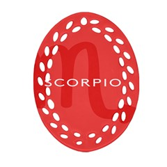Zodiac Scorpio Oval Filigree Ornament (two Sides) by Mariart