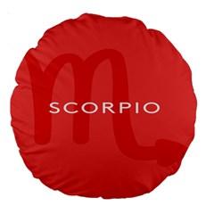 Zodiac Scorpio Large 18  Premium Round Cushions by Mariart