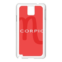 Zodiac Scorpio Samsung Galaxy Note 3 N9005 Case (white) by Mariart