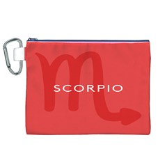 Zodiac Scorpio Canvas Cosmetic Bag (xl) by Mariart