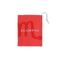 Zodiac Scorpio Drawstring Pouches (xs)  by Mariart