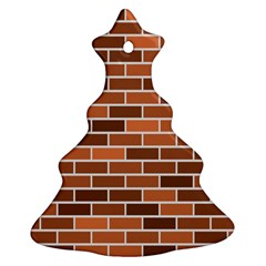 Brick Brown Line Texture Ornament (christmas Tree)  by Mariart
