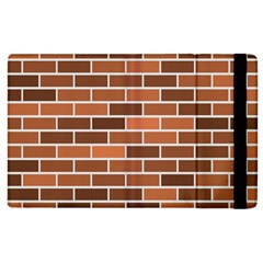 Brick Brown Line Texture Apple Ipad 3/4 Flip Case by Mariart